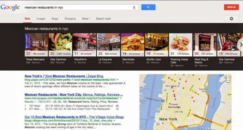 Google Local Carousel